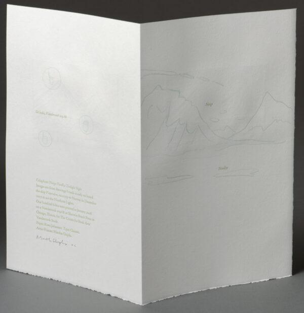 Reverse side, Twilight Night print