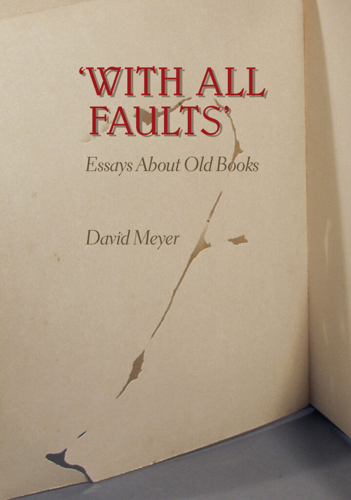 With All Faults book dust jacket